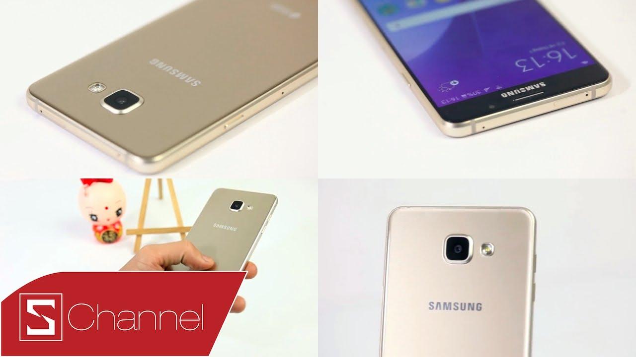 Schannel – Mở hộp Galaxy A7 2016 Gold: Màu bán chạy nhất !