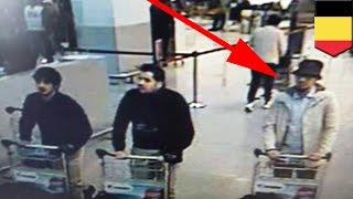 Brussels terror attack: police hunt for third ISIS suspect involved in airport bombings - TomoNews(BRUSSELS — Belgian police are hunting for a suspect who was seen with two suicide bombers in airport CCTV footage shortly before bombs went off in ..., 2016-03-23T09:39:27.000Z)