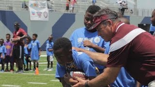 Sun Belt Coaches and Student-Athletes Team Up for New Orleans Youth Football Clinic