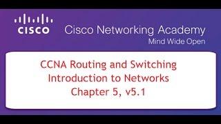 NETACAD CCNA Course 1, Chapter 5, v5.1