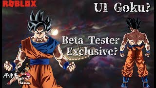 UI Goku! Beta Tester Exclusivo? Roblox Anime Cross 2