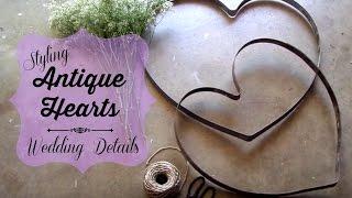Rustic Wedding Details | Antique Hearts