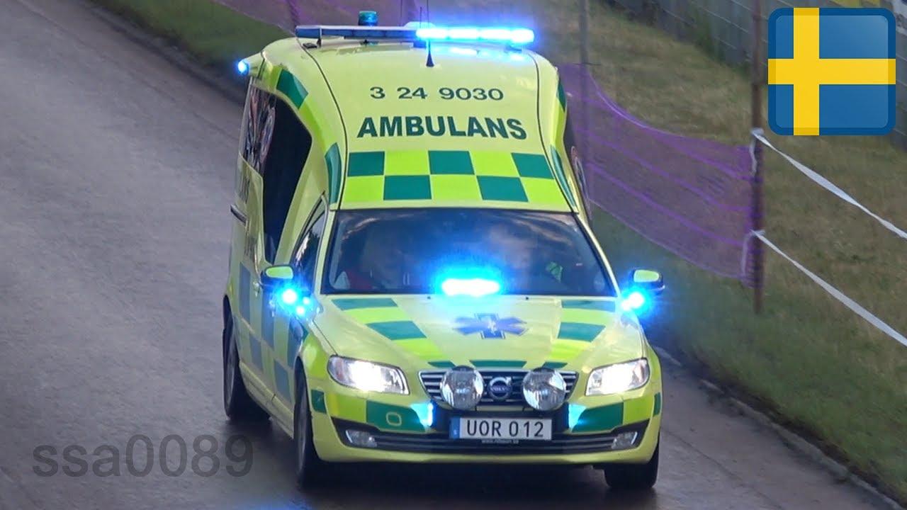 Ambulans Volvo V70 Ambulance utryckning i Västerås [SE | 7.2016] - YouTube