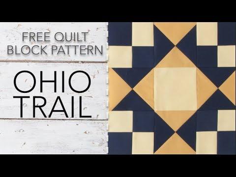 FREE Quilt Block Pattern: Ohio Trail