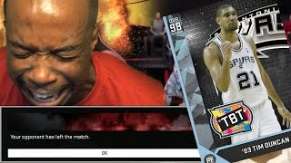 YOU WONT BELIEVE THIS! THE BEST Power Forward To Play DEBUT! NBA 2k16 Diamond Tim Duncan Gameplay!