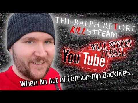 The WSJ Pressures YouTube to Shutdown #TheKillstream and a Charity Loses $27k in the Process
