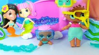 КУКЛЫ ЛОЛ СЮРПРИЗ МУЛЬТИК!  Подводный Городок Русалок в Бассейне для Lol Surprise Doll