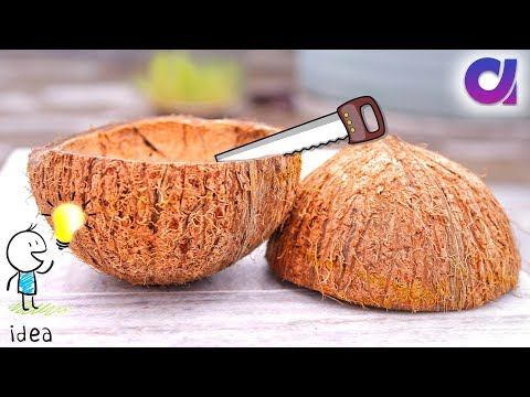 How to reuse waste coconut shell | Best out of waste ideas | Artkala 262