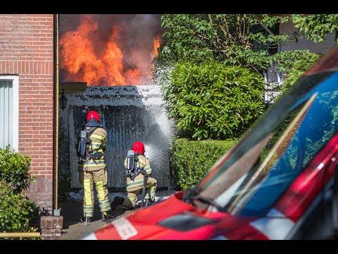 Felle uitslaande brand in Hilversum 27-05-2017