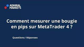 Comment mesurer une bougie en pips sur MetaTrader 4