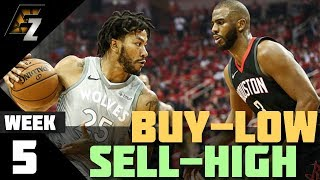 Week 5 Buy-Low/Sell-High Players Fantasy Basketball 2018-2019