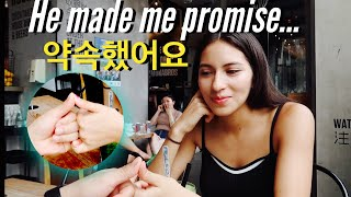 My husband made me promise...? 약속했어요❤️ 1st Date after Wedding (Spanish Subtitles)