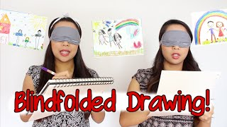 Blindfolded Drawing Challenge! | Samantha and Madeleine
