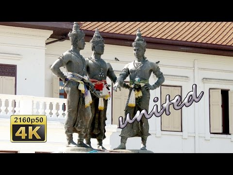 Chiang Mai, Three Wats and Three Kings - Thailand 4K Travel Channel
