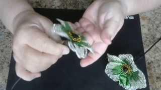 Французский цветочек из бисера. Мастер - класс.