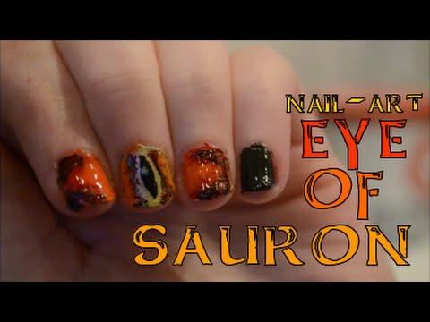 Eye of sauron nail art youtube prinsesfo Images