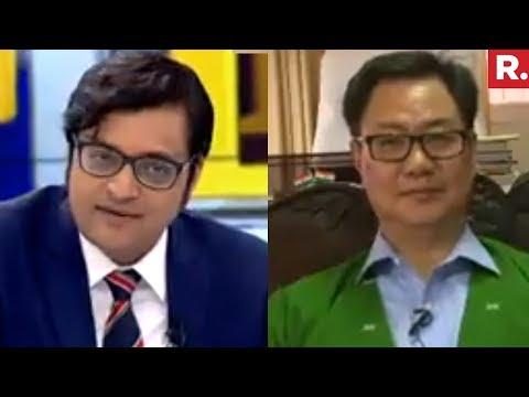 Kiren Rijiju Speaks To Arnab Goswami | North East Elections 2018