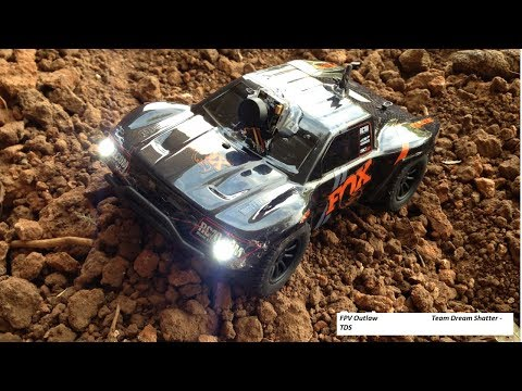 Team Associated sc28 Fox Edition Micro RTR 1/28 scale modded truck by FPV Outlaw