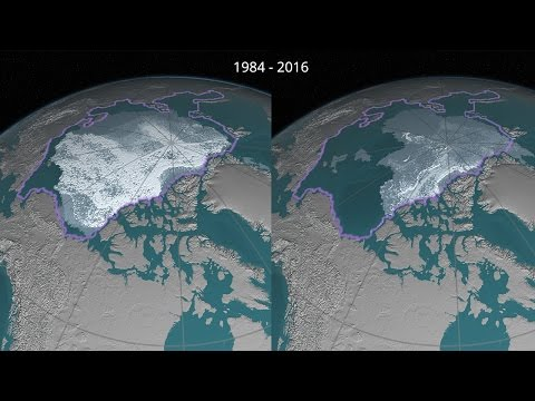 Perennial Arctic Sea Ice Decline 1984 – 2016 (4K)