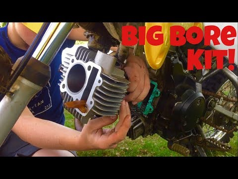 INSTALLING THE BIG BORE ONTO THE PIT BIKE | PART 1