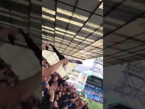 Rangers fans Baku were on our way
