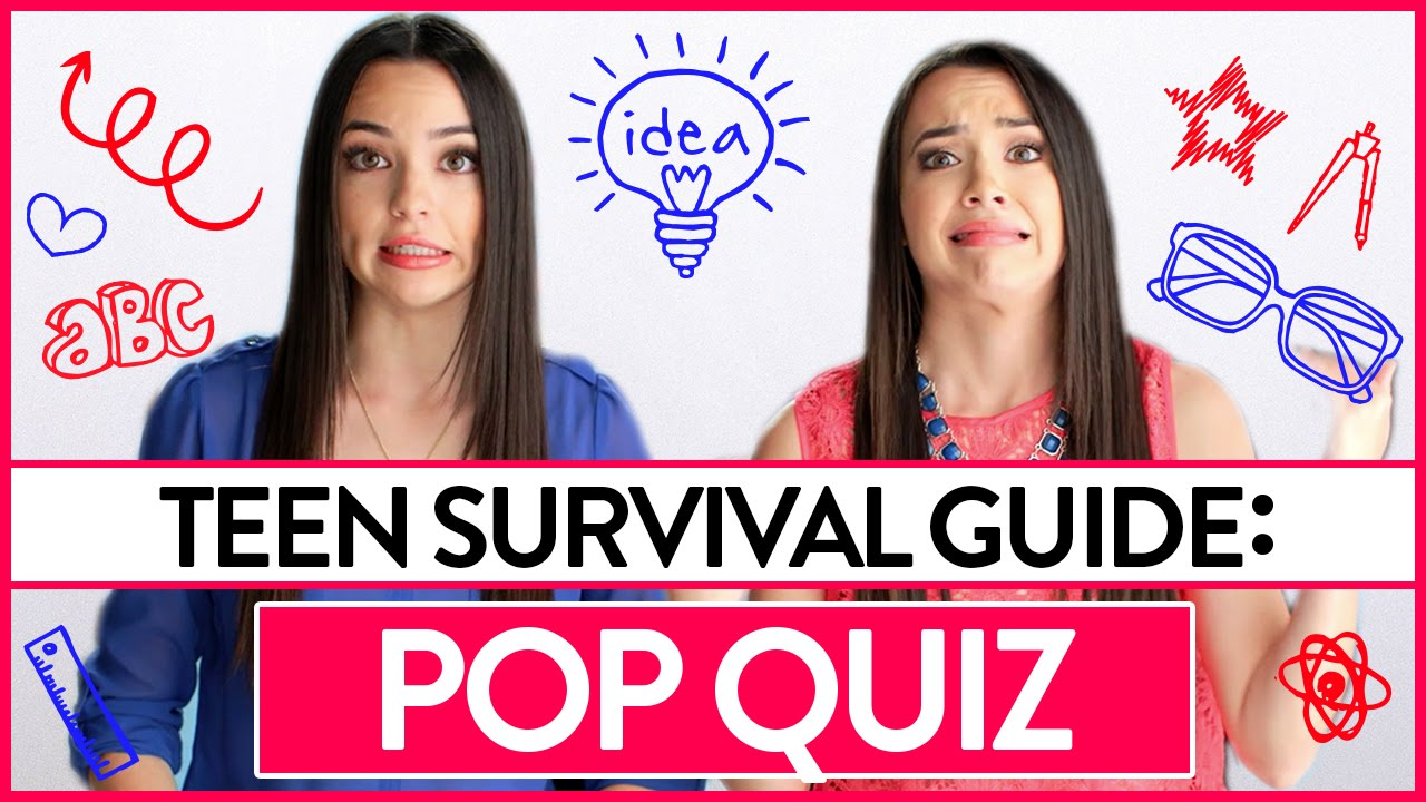 Pop Quiz Teen Survival Guide W The Merrell Twins Youtube