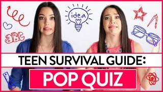 Pop Quiz | Teen Survival Guide w/ the Merrell Twins