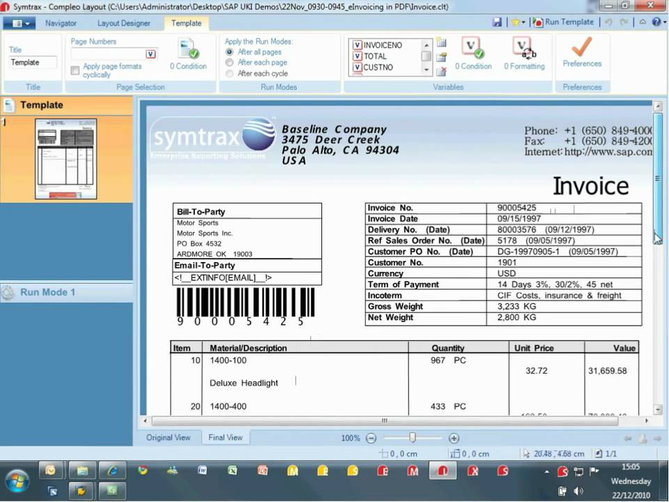 Simplified Electronic Invoicing in PDF from SAP/ SMART/ OTF Spools