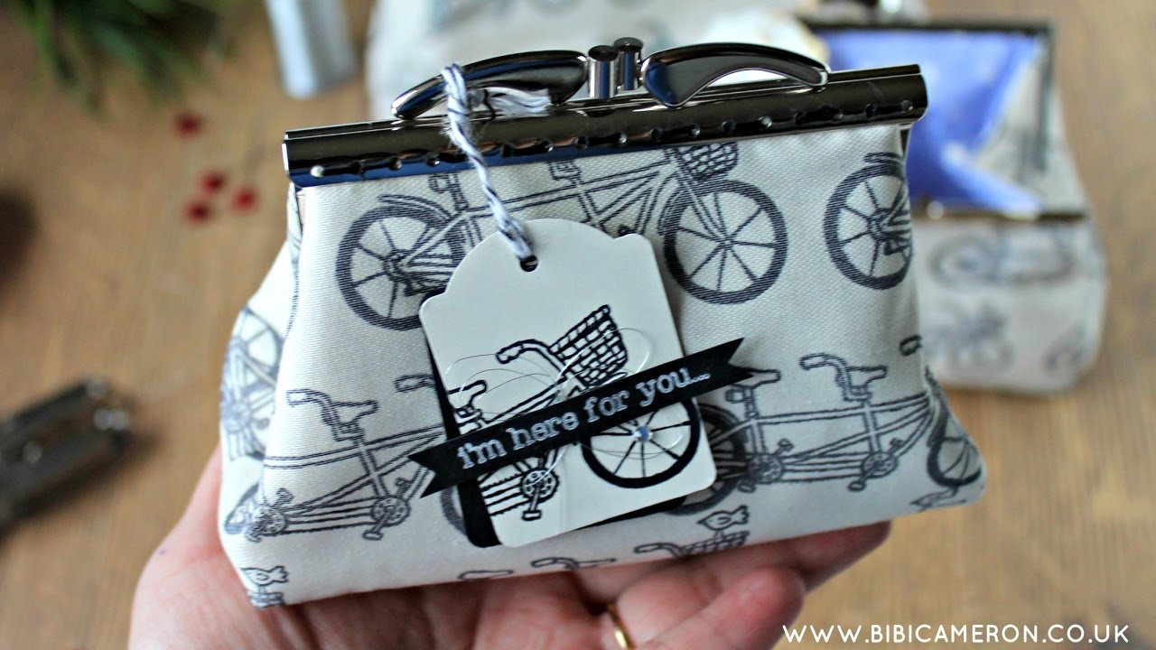 DIY Pattern for clutch purses with metal
