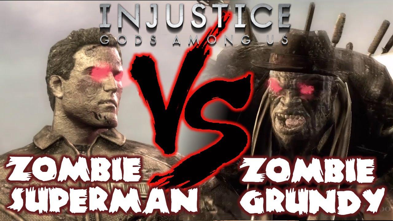 injustice gods among us zombie dlc gameplay superman
