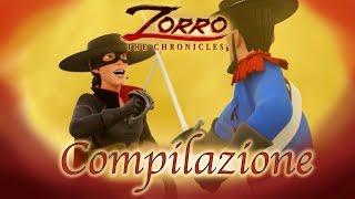 1 Ora COMPILAZIONE   Zorro La Leggenda   Episodio 7 - 9  Cartoni di supereroi