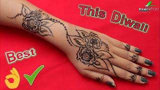 Best & Beautiful Diwali Mehndi Design | Easy and Fast Mehndi Design