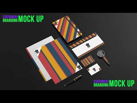 How to design a Stationery Mock up in illustrator cc l Tutorials