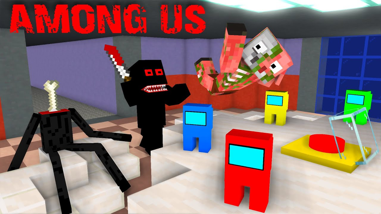 Monster School : AMONG US - Minecraft Animation