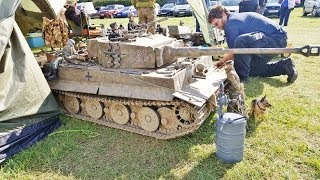GIANT 1/6 SCALE RC TANKS - SOUTHERN HEADCORN MODEL SHOW - 2017