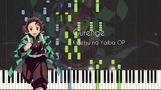 Gurenge - Kimetsu no Yaiba OP - Piano Arrangement [Synthesia] MP3