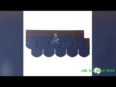 San-gobuild Fish-Scale Standard Asphalt Shingle Roof Tiles