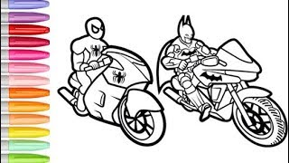 6700 Spiderman Motorcycle Coloring Pages , Free HD Download