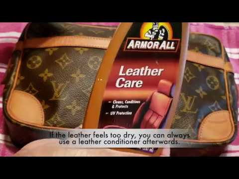 Cleaning Louis Vuitton Vachetta Leather with Foaming Soap