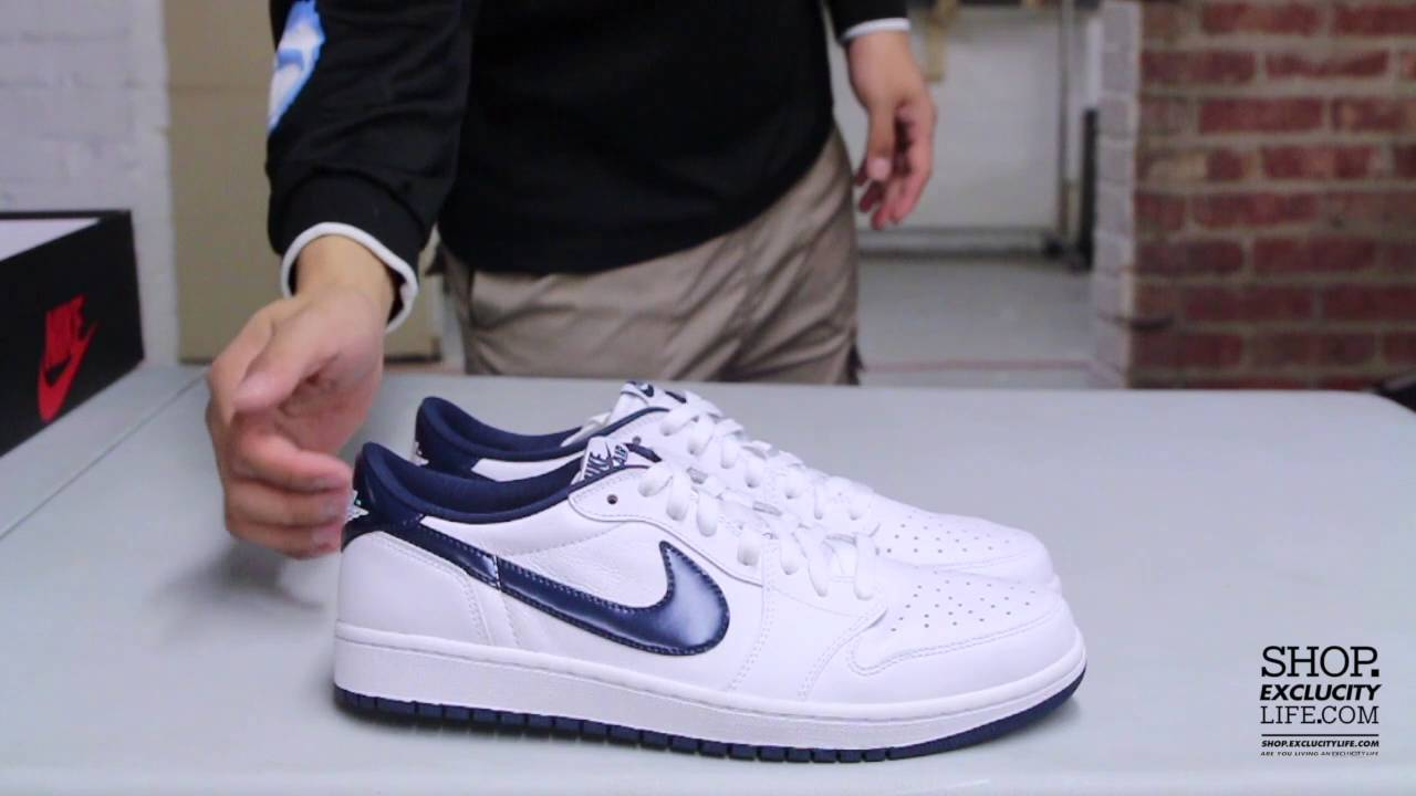 official photos f85f2 2e4ef ... uk air jordan 1 low og retro midnight navy unboxing video at exclucity  youtube 7d0ad 7e769