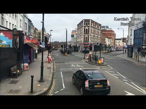 FULL ROUTE VISUAL | Northern Replacement UL4 - King's Cross to Finchley Central | TE1073 (LK10BZV)