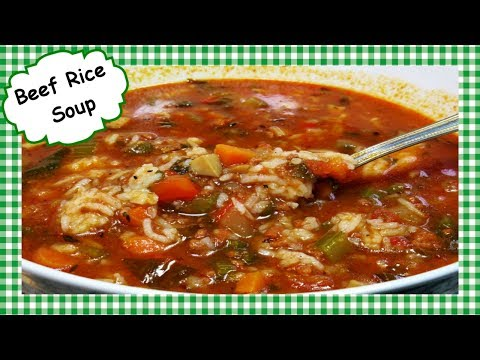 How To Make Beef Rice Soup ~ Easy Ground Beef And Rice Soup Recipe