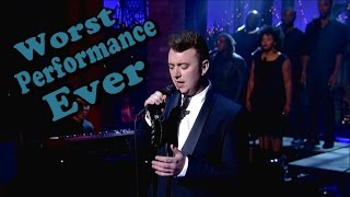 Sam Smith - Worst Live Performance Ever - Stay With Me (Shreds)