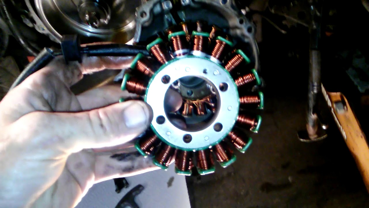 How To Change Stator Zx 12 6 8 Kawasaki Youtube Fd750 Regulator Wiring Diagram