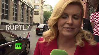 Russia: 'We are on top of the world' – Croatian president before WC final *EXCLUSIVE*