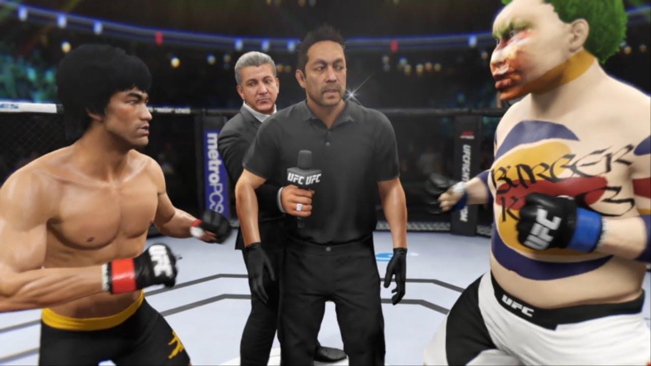 "UFC Bruce Lee VS Burger King "" 햄버거로 만들어진 얼굴! 기절시켜라!"