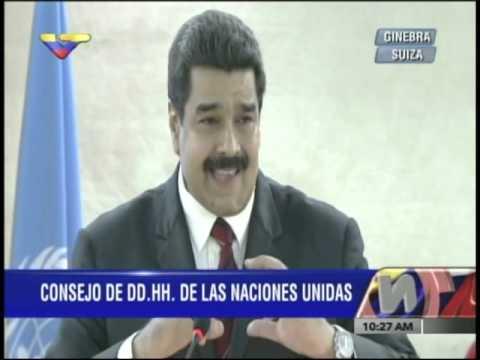 Presidente Nicolás Maduro en Suiza, Consejo de Derechos Humanos de las Naciones Unidas
