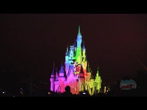 Celebrate The Magic Projection Show On Cinderella Castle At Walt Disney World