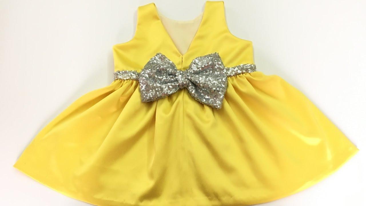79e136d5b2cd6 خياطة فستان طفلة من عمر سنة ونصف لسنتين - YouTube