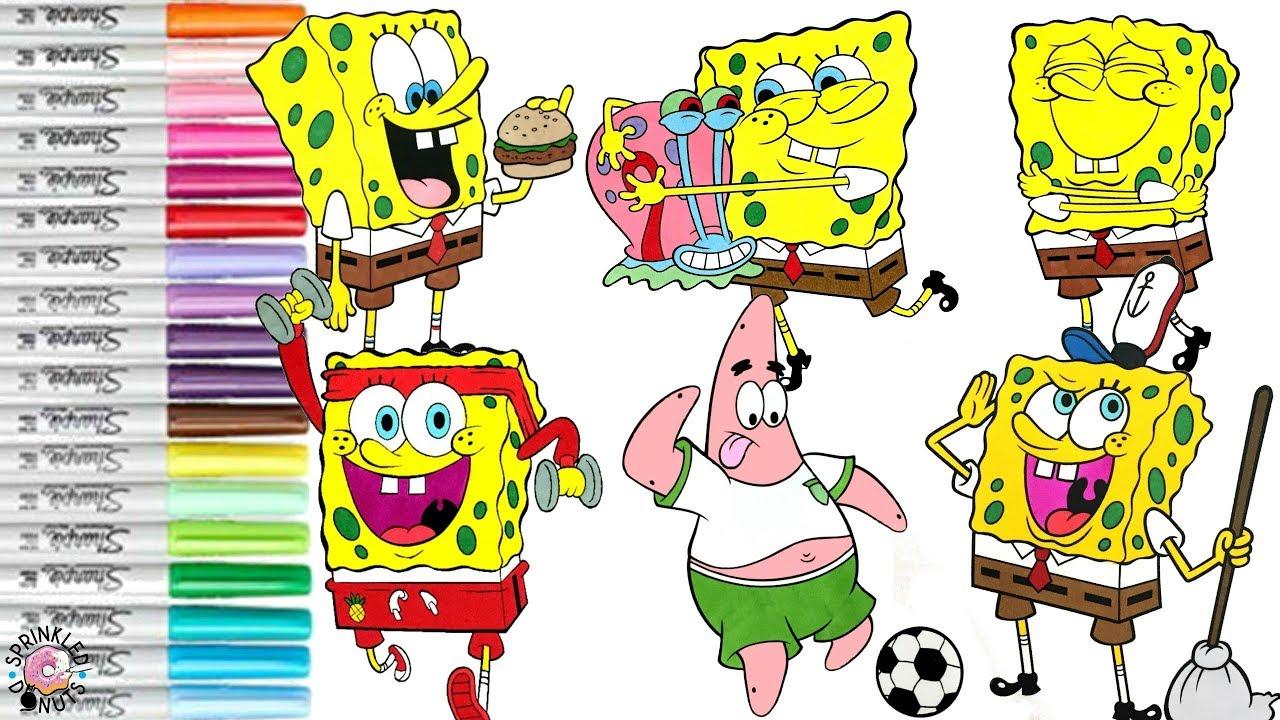 spongebob squarepants coloring book compilation spongebob patrick